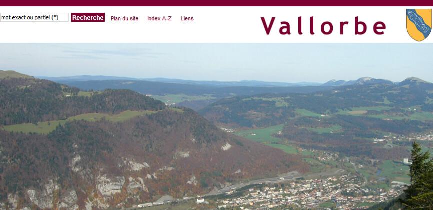 Site officiel de la commune de Vallorbe
