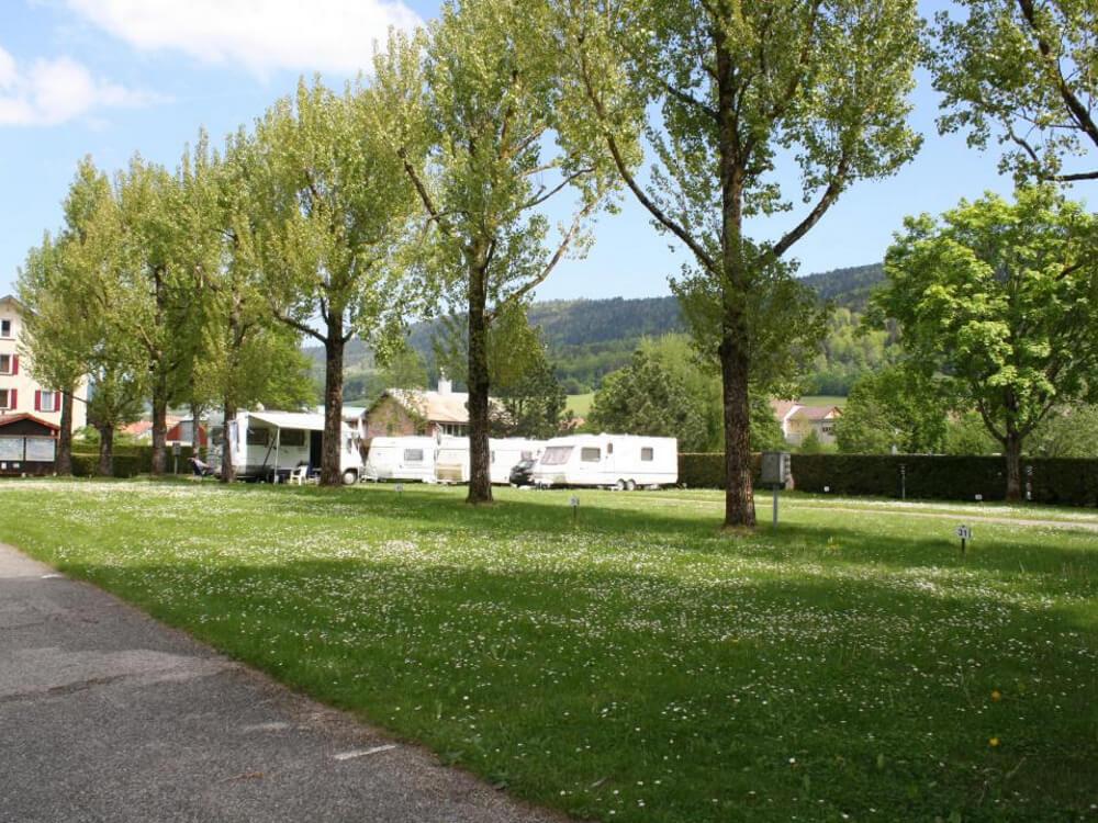 Emplacements du camping de Vallorbe